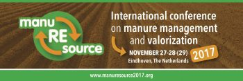 Save the date: ManuREsource 27, 28, 29 november