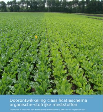 Doorontwikkeling classificatieschema organische-stofrijke meststoffen