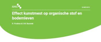 Notitie NMI: Effect kunstmest op organische stof en bodemleven