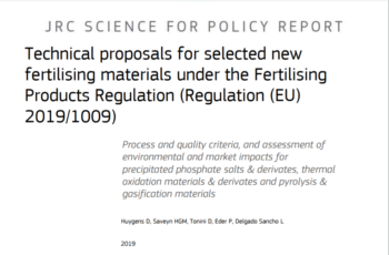 STRUBIAS: Technical proposals for selected new fertilising materials under the Fertilising Products Regulation (Regulation (EU) 2019/1009)