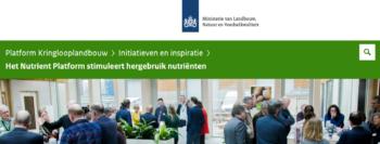 Nutrient Platform in de schijnwerpers bij Platform Kringlooplandbouw